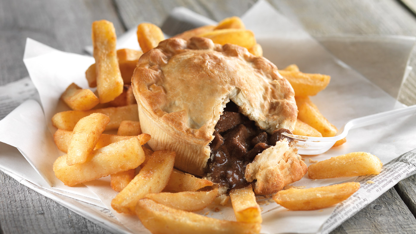 Seriously Tasty pie and chips