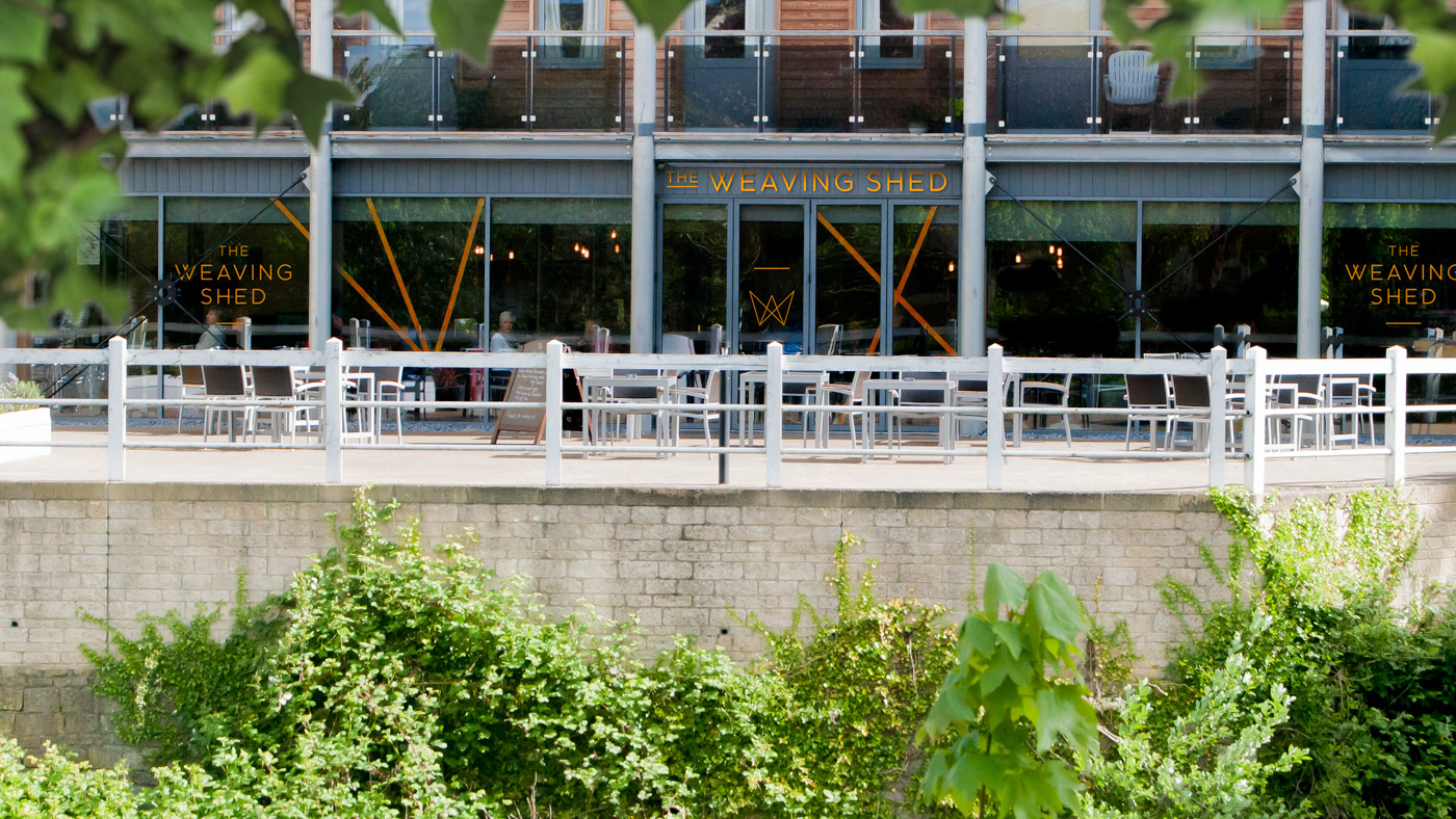 Weaving Shed restaurant view from across the video