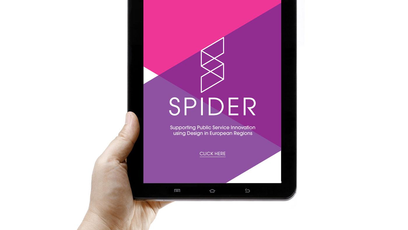 Spider mailer, iPad screen