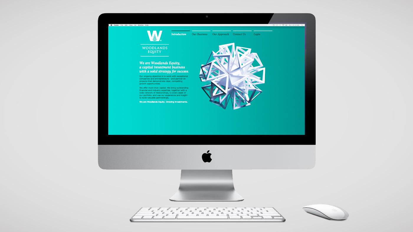 Woodlands Equity website screen 1