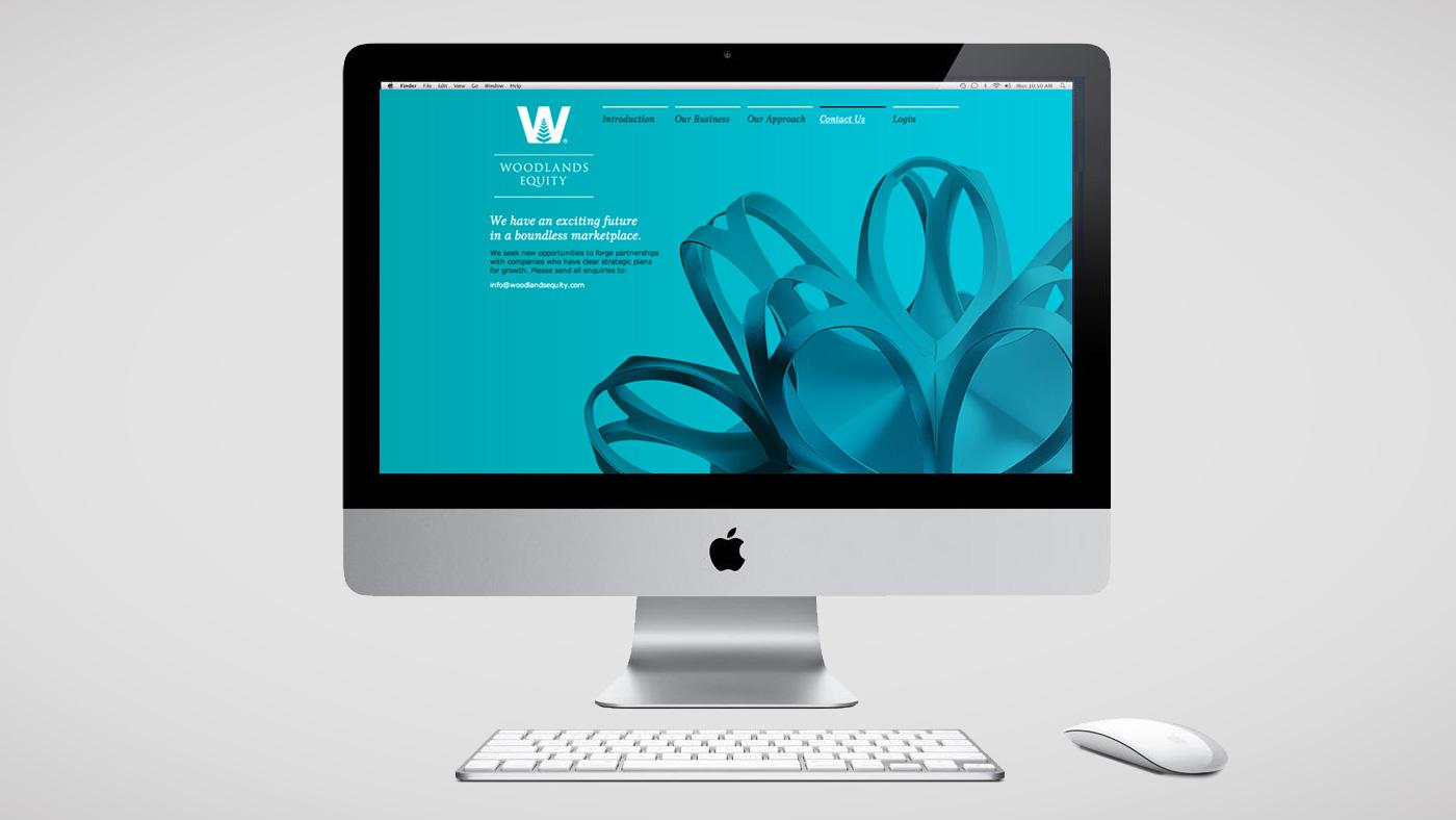Woodlands Equity website screen 2