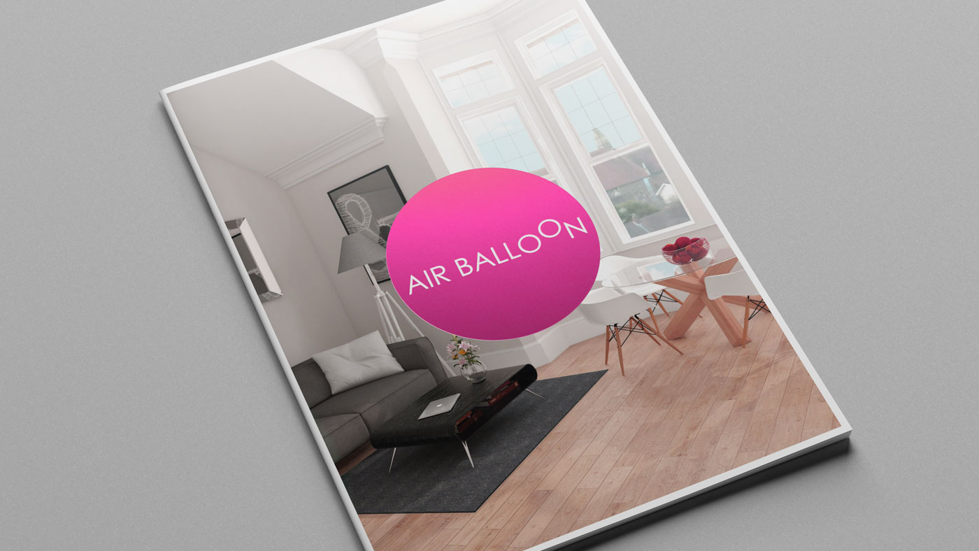 Air Balloon brochure cover design