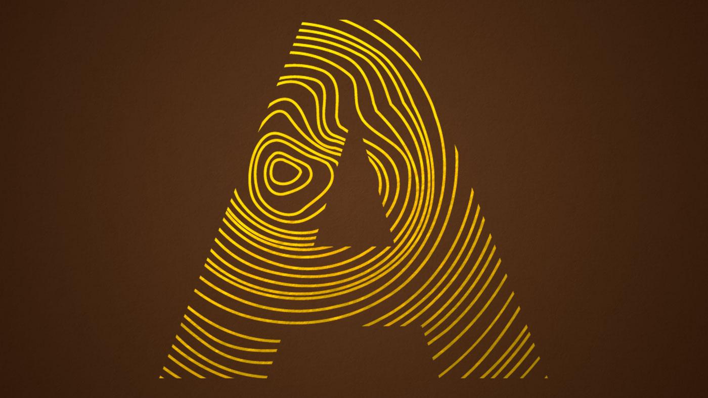 Closeup of Ambient logo design