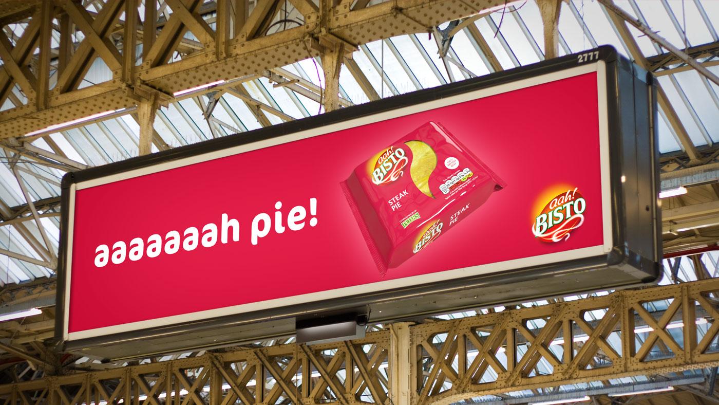 Bisto advertisement on billboard