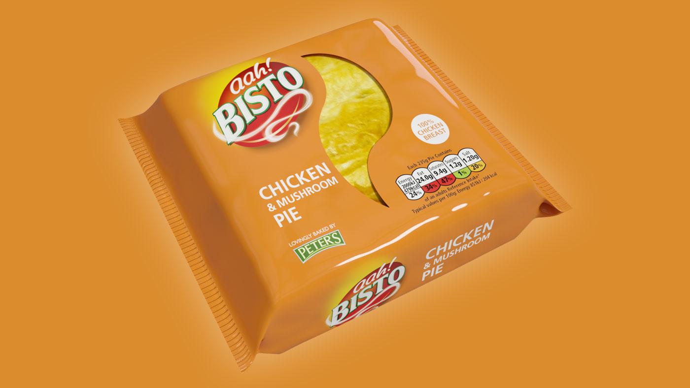 Bisto Chicken and Mushroom Pie packaging design