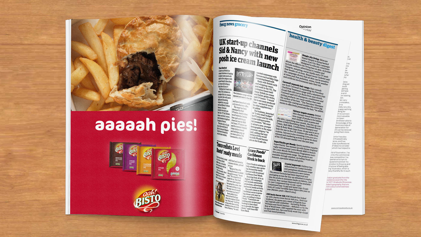 Bisto Pies magazine advert