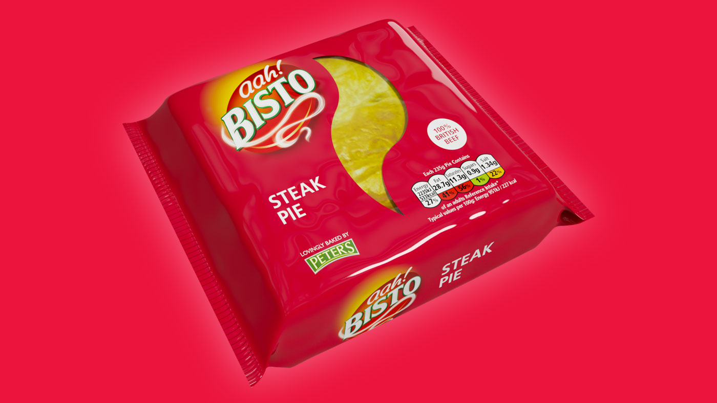 Bisto Steak Pie packaging design