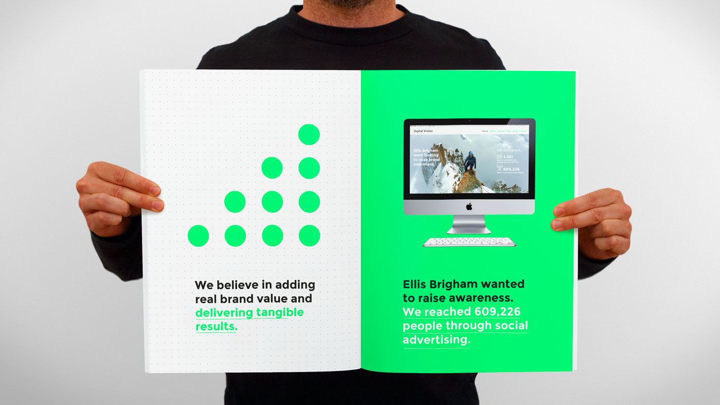 Digital Visitor brochure spread