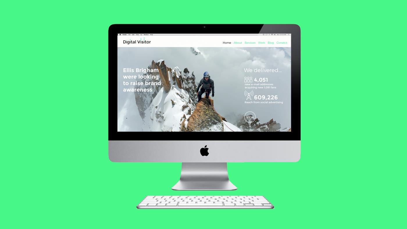 Digital Visitor web screen 1