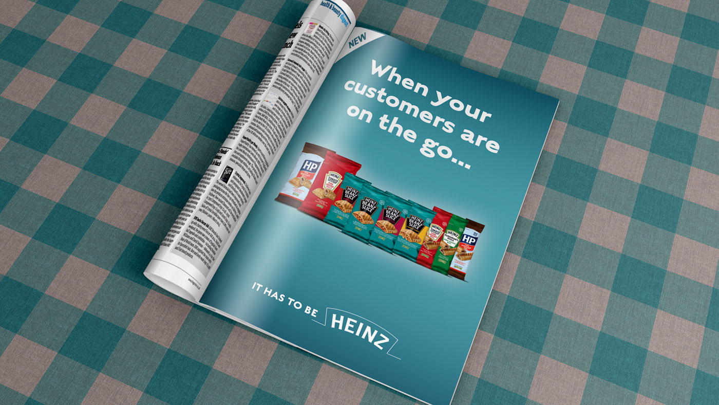 Heinz creative in magazine advert