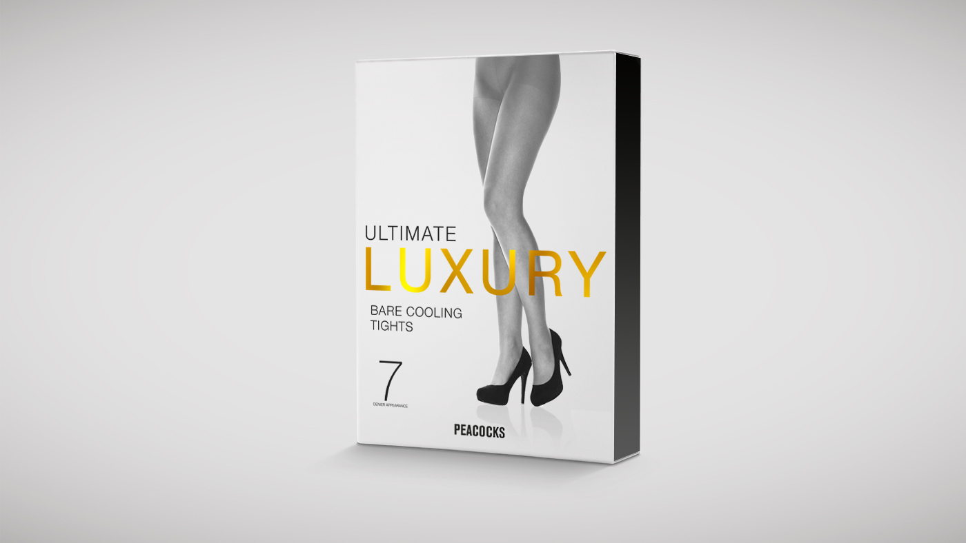 Peackocks luxury tights packaging design