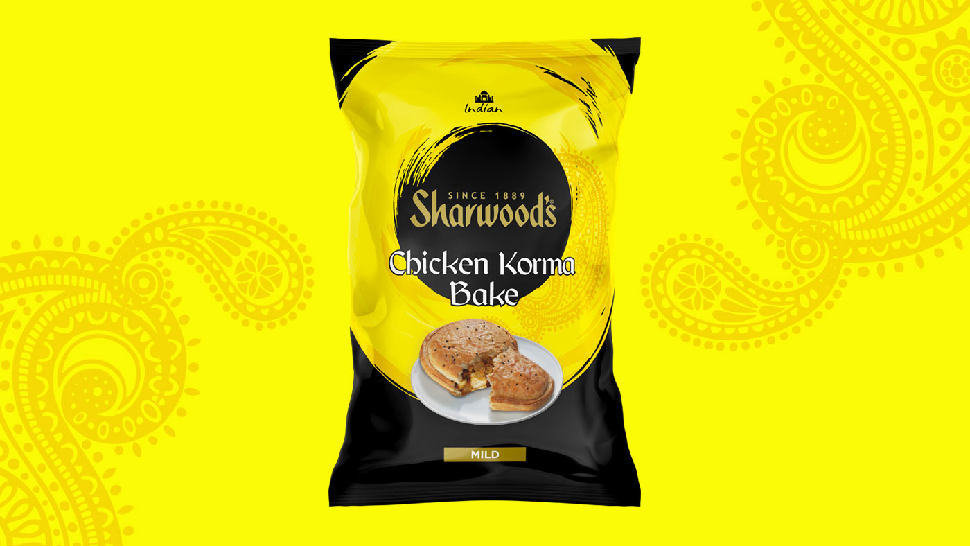 Sharwoods Chicken Korma slice packaging