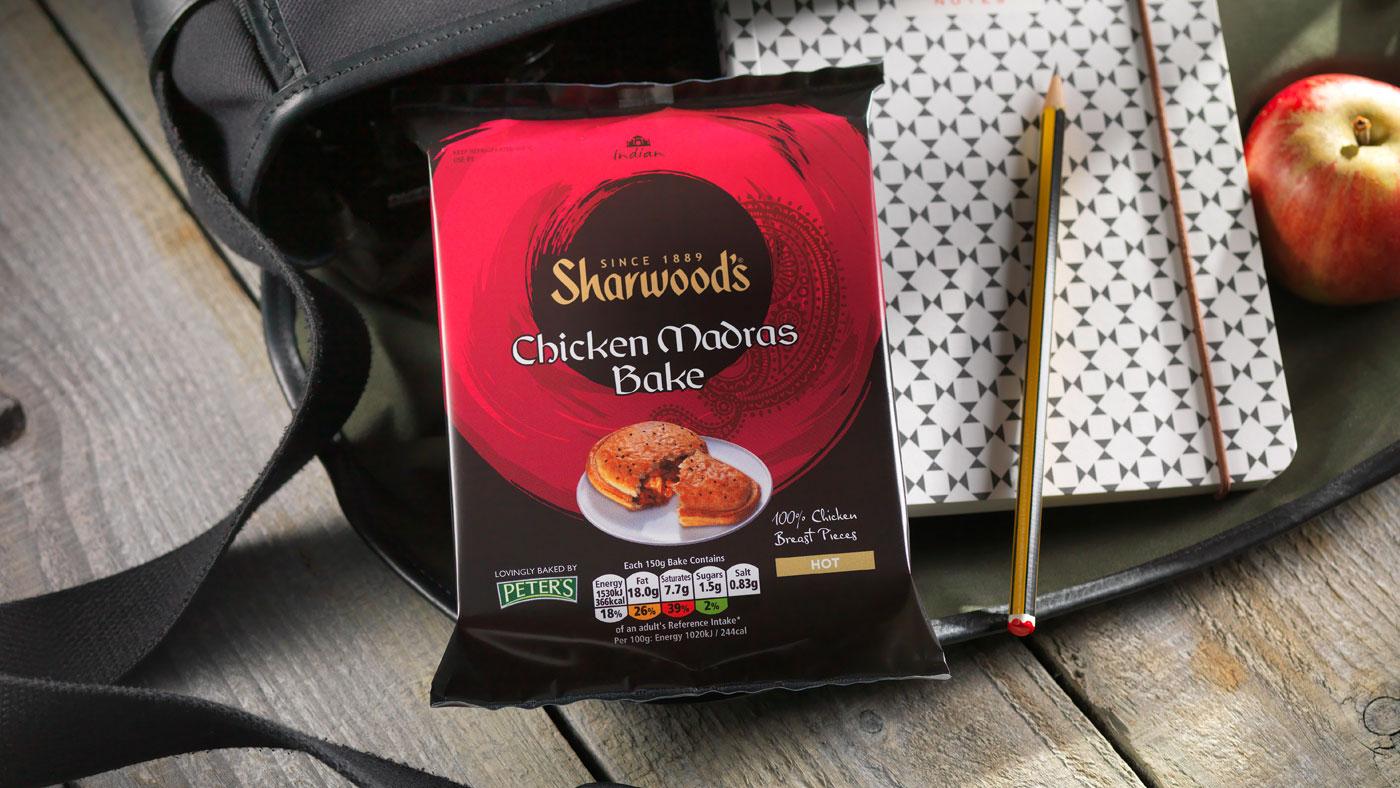 Sharwoods Chicken Madras slice packaging