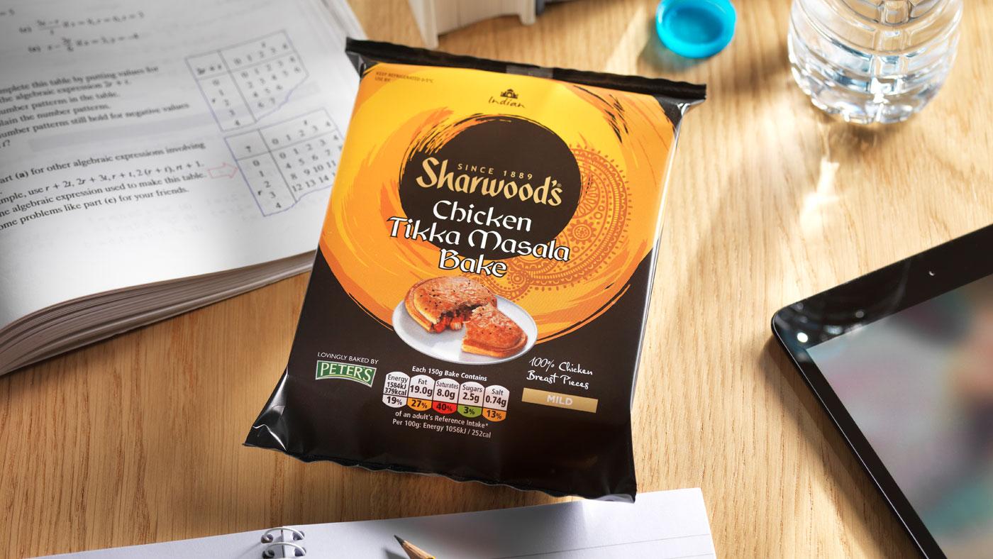 Sharwoods Chicken Tikka Masala slice packaging