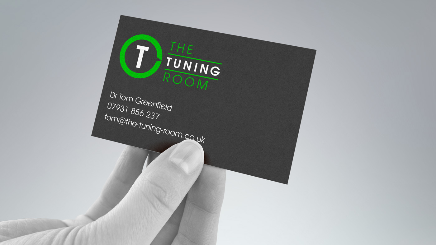 The Tuning Room business card design