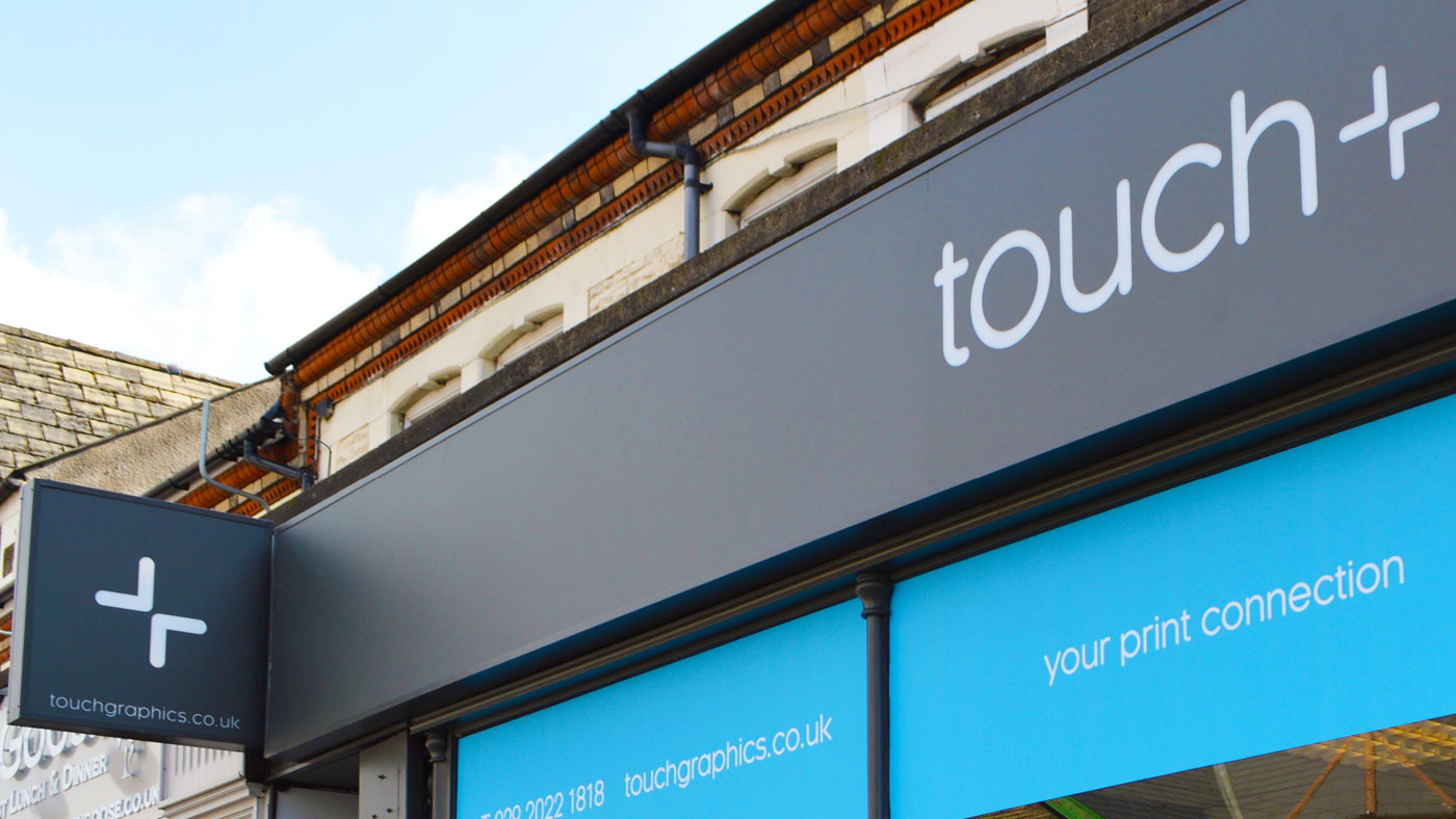 Shopfront showing Touch brand