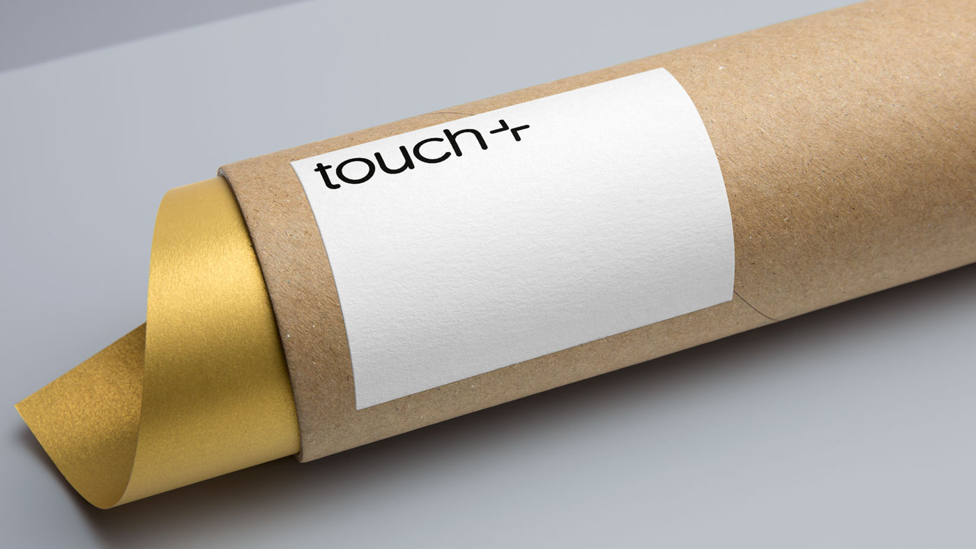 Closeup of Touch brand in use