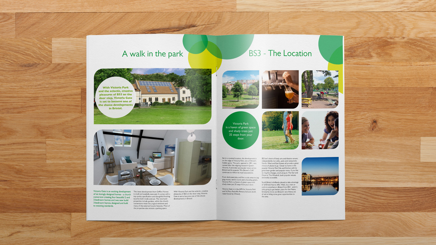 Victoria Gate brochure inside spread