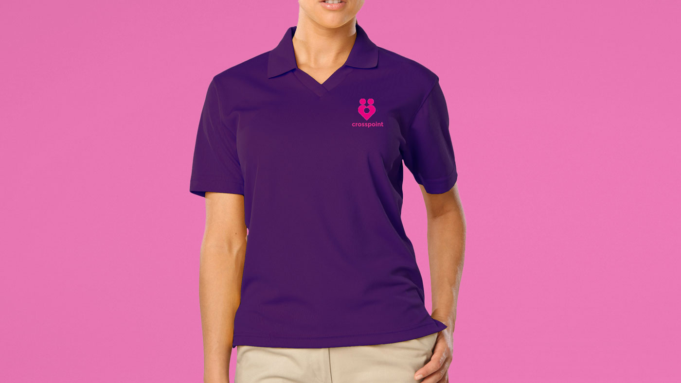 Crosspoint branded clothing for staff members