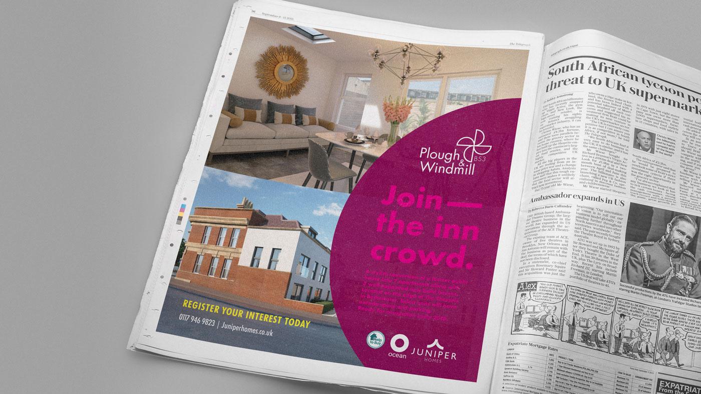 Plough & Windmill press advert