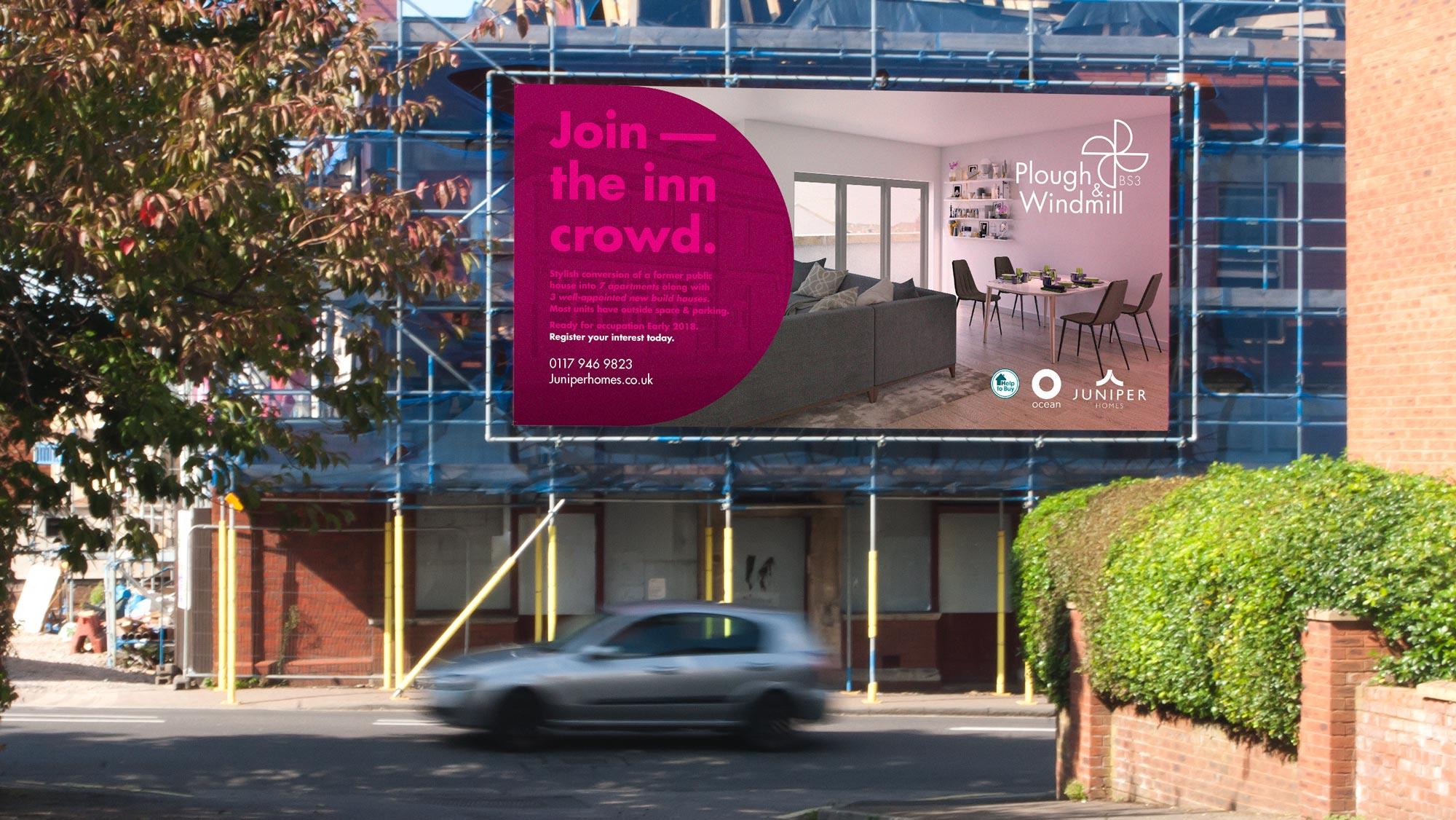 Plough & Windmill window posters