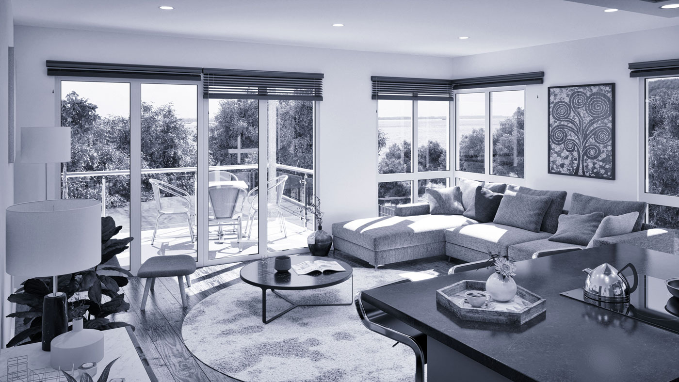 Interior of one of the Severn Scape properties