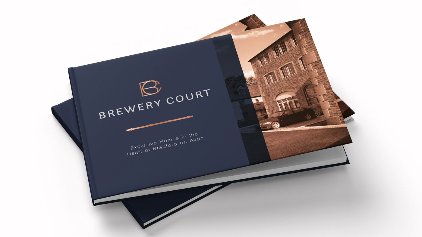 Brochure and logo design for Brewery Court property development.